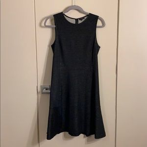 Theory size 8 gray/black A line dress